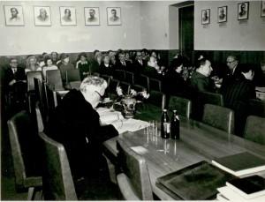 Засідання вченої ради НДІ педагогіки, 70-ті роки.