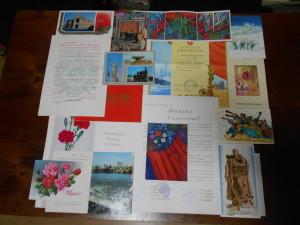 1 Вітальні листівки,грамоти М.С. Гриценка